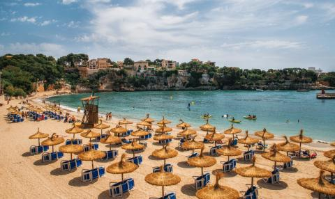 Playa de Porto Cristo, en Manacor (Baleares)