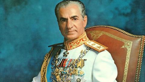 Retrato oficial de Mohamed Reza Pahlevi, c. 1973.