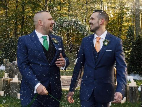 """One of the happy couples in """"Say I Do."""""""