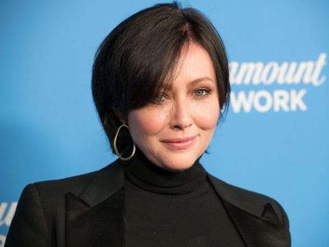 Shannen Doherty asiste a la fiesta de estreno de Paramount Network en 2018 en Los Ángeles.