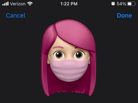 There are more Memoji sticker options to choose from and you can customize your Memoji with a mask.