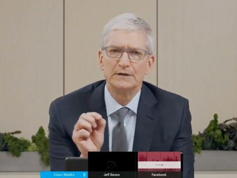 Tim Cook said Apple doesn't have a dominant market share in any market where it does business —but the full picture is a bit more complicated apple google amazon facebook