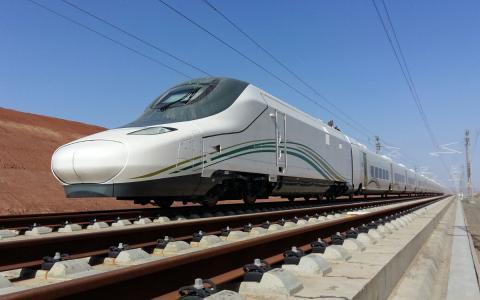 Tren de alta velocidad del consorcio español entre Medina y La Meca.