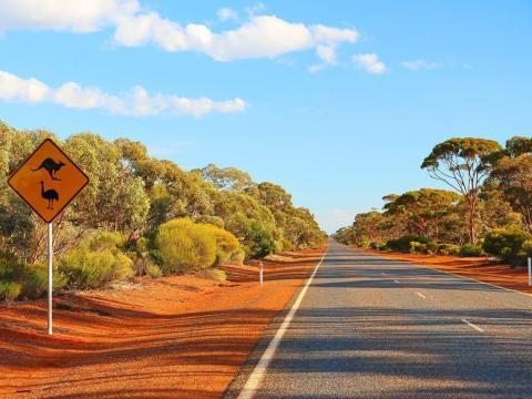 El interior de Australia.