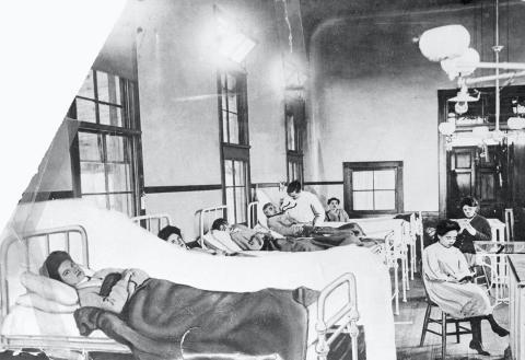 """Mary Mallon (¿1870? -1938), conocida como """"Mary tifoidea"""", en Nueva York. Fue la primera persona identificada como portadora de bacilos tifoideos en Estados Unidos."""