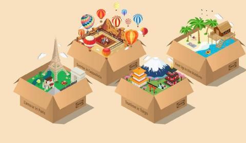 Vacaciones en cajas