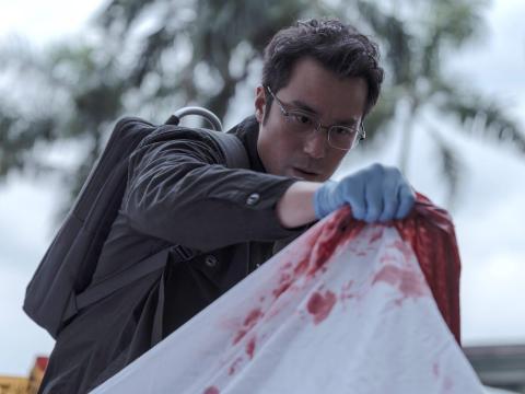 Joseph Chang, Ann Hsu, y Jason Wang coprotagonizan 'El Juego de las Víctimas'.