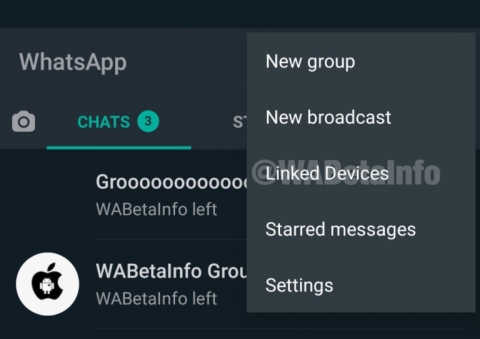 Imagen WABETAINFO sobre la nueva función de WhatsApp en la que se podrá vincular varios dispositivos a una misma cuenta.