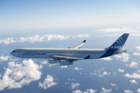 El A340 fue el primer cuatrimotor de Airbus