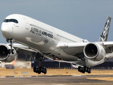 An Airbus A350-1000 XWB aircraft. Andreas Zeitler/Shutterstock.com