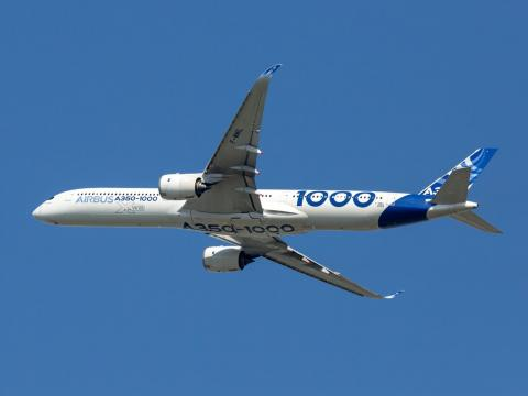 An Airbus A350-1000 XWB aircraft. Skycolors/Shutterstock.com