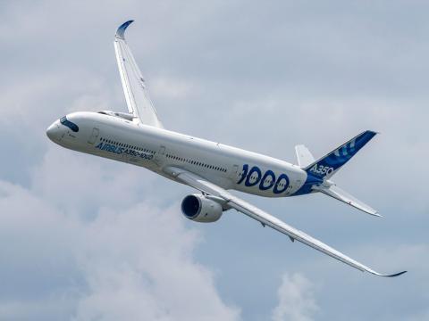 An Airbus A350-1000 XWB aircraft. Tom Buysse/Shutterstock.com