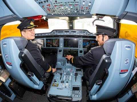 An Airbus A350 XWB cockpit. Dmitry Birin/Shutterstock.com