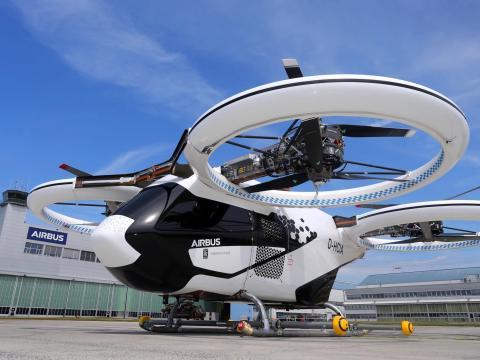 Airbus' CityAirbus eVTOL. Karl-Josef Hildenbrand/picture alliance/Getty