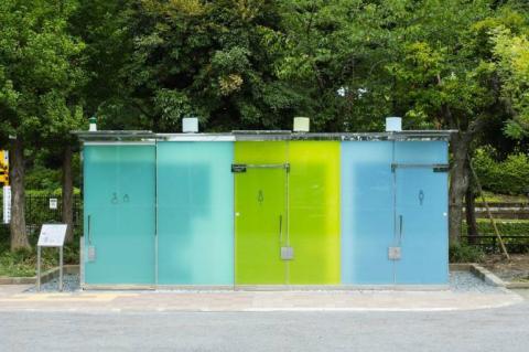 Baños transparentes en Japón