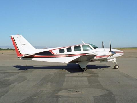 A Beechcraft Baron 58 similar to the one used by Project Wayfinder. Richard Thornton/Shutterstock.com