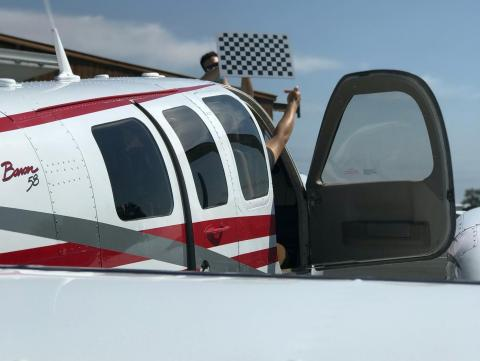 A Beechcraft Baron 58 used by Airbus Acubed's Project Wayfinder. Airbus Accubed/Project Wayfinder