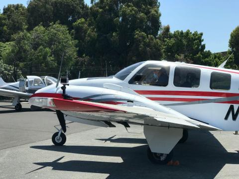A Beechcraft Baron 58 used by Airbus Acubed's Project Wayfinder. Airbus Acubed/Project Wayfinder