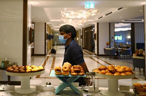 Buffet de un hotel.
