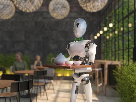 Camarero robot.