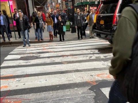 Caminando por Nueva York en el mes de marzo.