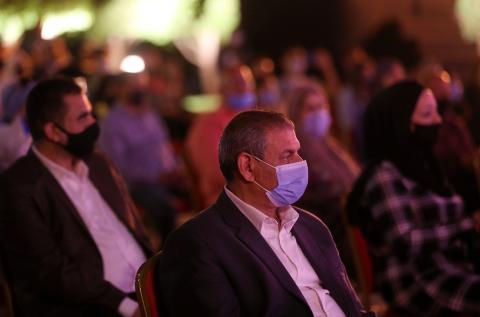 Celebración de una orquesta en Egipto durante la pandemia por COVID-19.