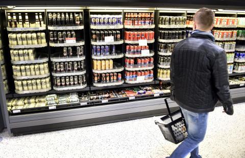 cervezas en el supermercado