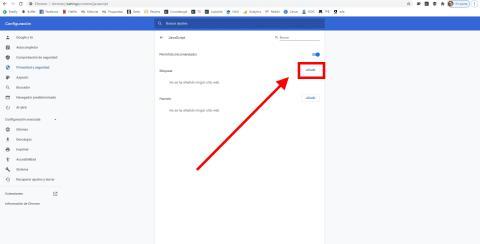 Como bloquear paginas de chrome desde los ajustes