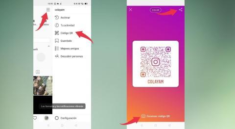 Como crear y compartir codigos QR en Instagram