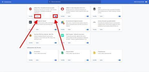 Como encontrar y deshabilitar extensiones de Chrome