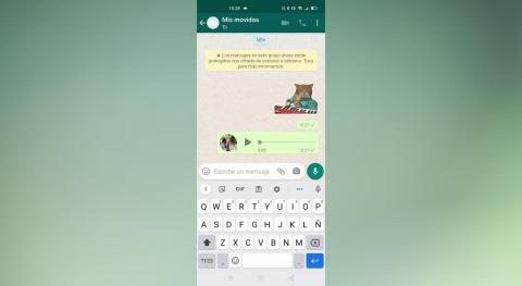 Como enviar stickers con audio en WhatsApp