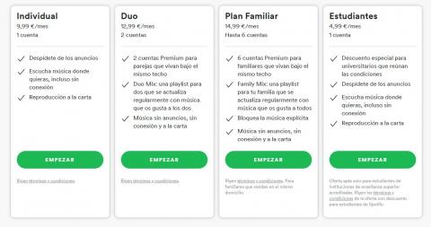 como pagar menos por spotify premium