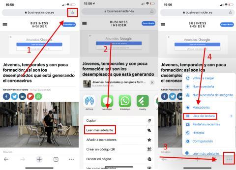 Como usar el modo sin conexion en Google Chrome en iOS