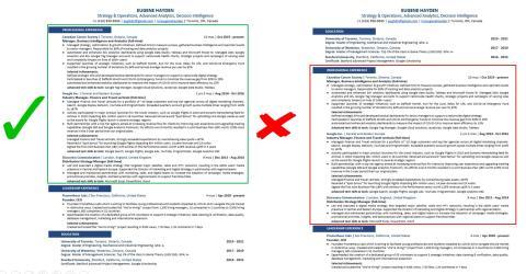 CV bueno vs CV malo