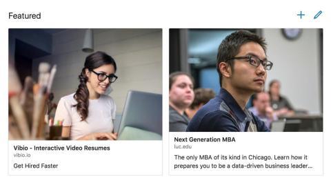 Sección de Destacado en el LinkedIn de Rob Cancilla.