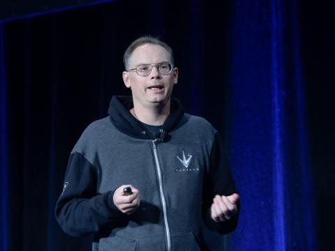 El CEO y cofundador de Epic, Tim Sweeney, participa en la Game Developers Conference de 2016