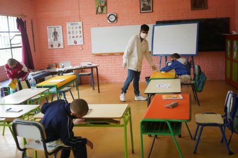 Una escuela rural de Uruguay