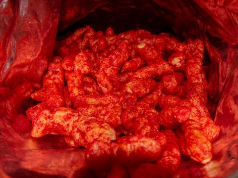 Cheetos Flamin' Hot.