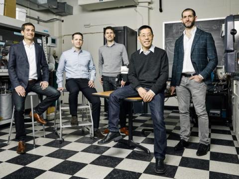Los fundadores de Form Energy. De izquierda a derecha, Mateo Jaramillo, Yet-Ming Chiang, Ted Wiley, William Woodford, Marco Ferrara.