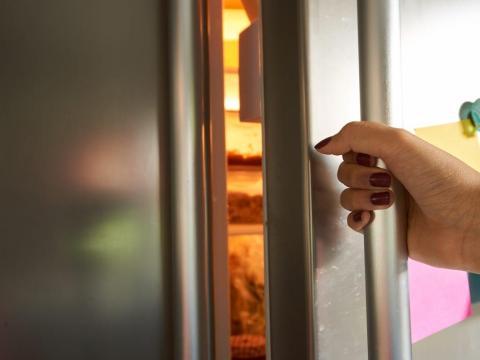 La nevera permanecerá más fría si mantienes la puerta cerrada.
