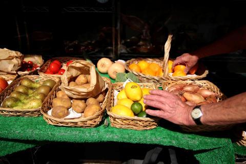 Fruta en un mercadillo