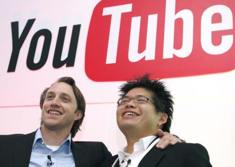 Los fundadores de Youtube, Chad Hurley y Steve Chen