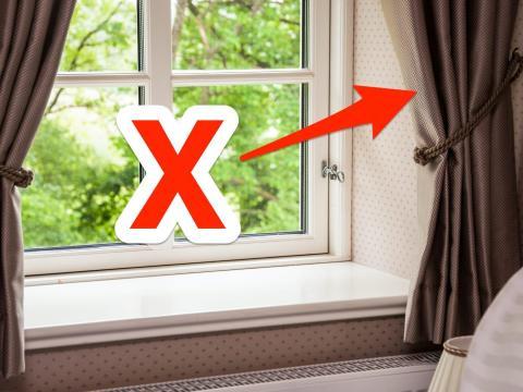 Las cortinas pesadas pueden hacer que una habitación tenga un aspecto muy cargado.