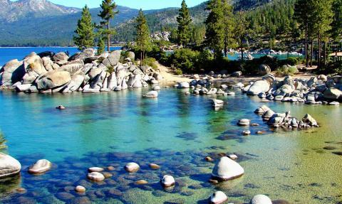 El Lago Tahoe, entre California y Nevada (Estados Unidos)