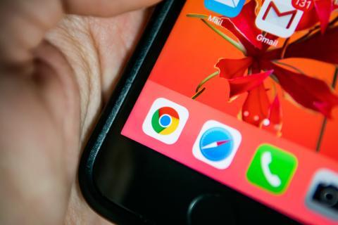 Logo de Chrome junto a otras apps