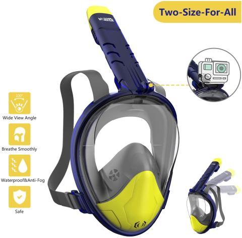 máscara snorkel