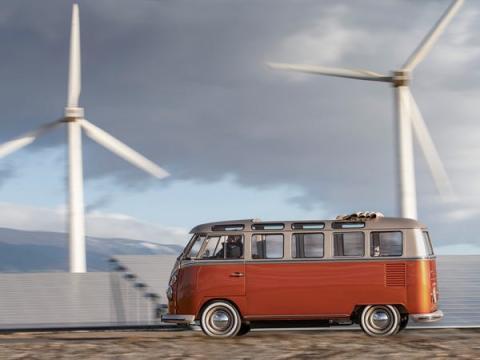 QuantumScape se asoció con Volkswagen. Aquí, el concepto e-Bulli del fabricante de automóviles.