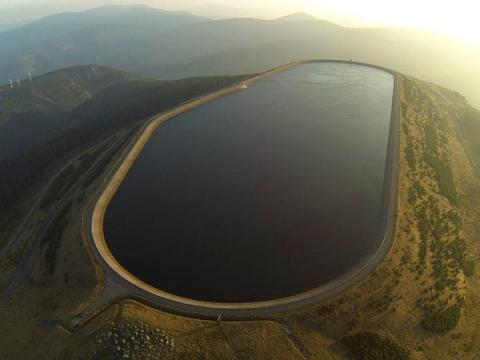 Una central hidroeléctrica de bombeo en la República Checa.