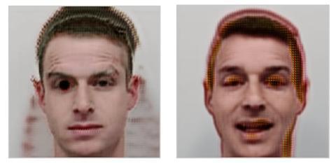 Deformaciones que la IA ha causado en las fotos de los hackers de McAfee.