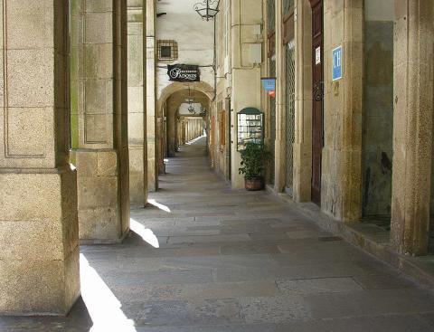 Rua do Vilar, Santiago de Compostela.